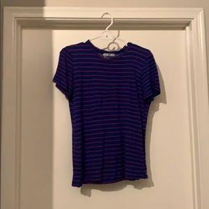 Loose fitting stripe top